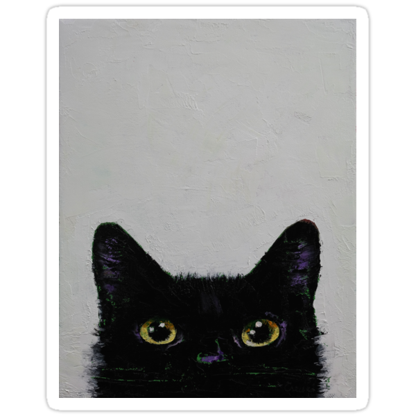 Quot Black Cat Quot Stickers By Michael Creese Redbubble