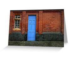 Bricks and Blue Greeting Card