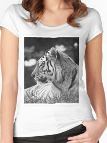 Siberian Tiger  Women's Fitted Scoop T-Shirt