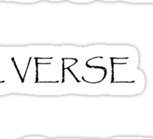 No Power in the Verse (Light) Sticker