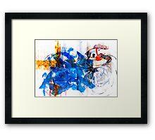 Bla-Blue-Bla-Blue-Bla Framed Print