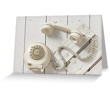 Vintage Rotary Dial Telephone Greeting Card
