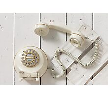Vintage Rotary Dial Telephone Photographic Print