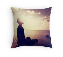 Sunset Meditation in Purple Throw Pillow