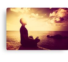 Tropical Sunset Meditation  Canvas Print