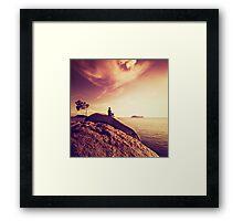 Oceanside Meditation Framed Print