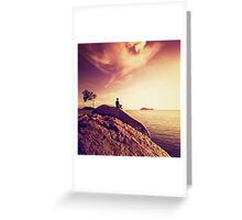 Oceanside Meditation Greeting Card