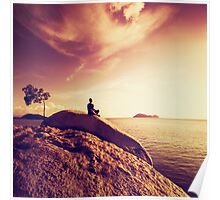 Oceanside Meditation Poster