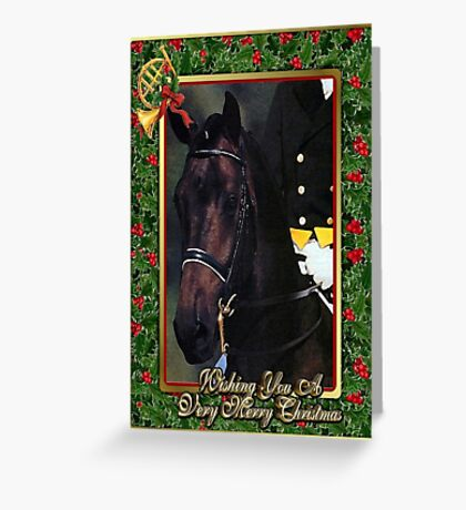 Dressage Horse Christmas Card Greeting Card