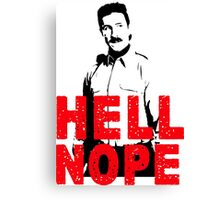 Hell Nope Canvas Print