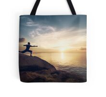 Warrior Yoga by the Ocean Tote Bag