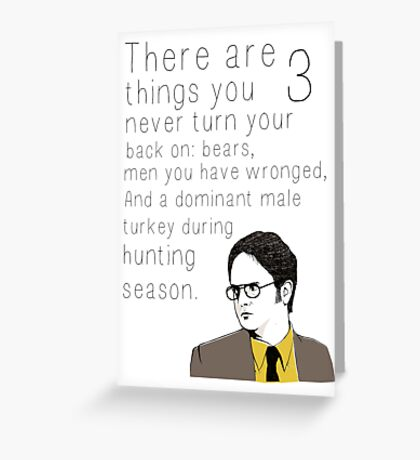 """Dwight's Rule"" Greeting Card"