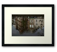 Raindrops, Ripples and Fabulous Reflections of Amsterdam Canal Houses Framed Print