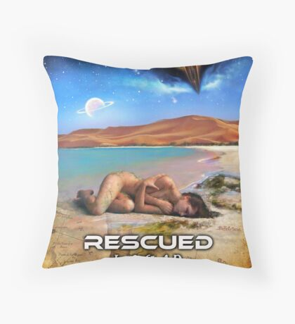 Rescued in 2061 AD Throw Pillow
