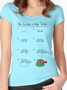 How to draw a ninja turtle Women's Fitted Scoop T-Shirt