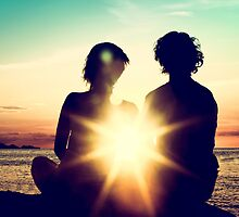 Romantic Sunset by visualspectrum