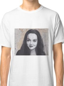 Charcoal Drawing of Morticia Addams Classic T-Shirt
