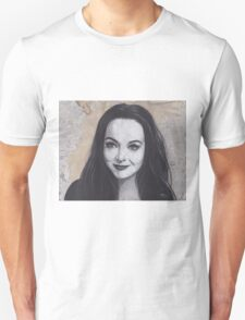 Charcoal Drawing of Morticia Addams T-Shirt