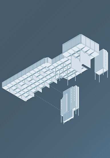Isometric Council Chambers by Peter Cassidy