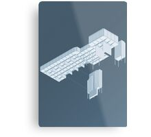 Isometric Council Chambers Metal Print