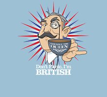 Don't Panic, Im British Unisex T-Shirt