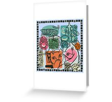 On the Town Greeting Card