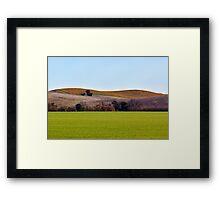 Sonoma Hills Framed Print