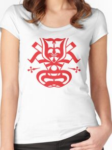 Typo Samurai - Red Women's Fitted Scoop T-Shirt