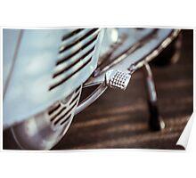 Vintage Lambretta Motorbike Poster