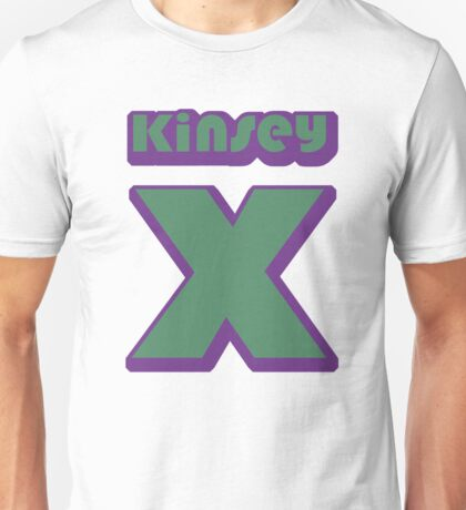 Kinsey's X - green/purple Unisex T-Shirt