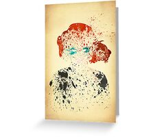Paint Splatter Superheros: Black Widow Greeting Card