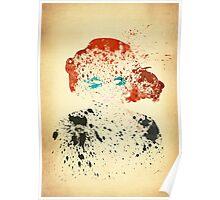 Paint Splatter Superheros: Black Widow Poster