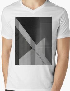 Lines (inverted) Mens V-Neck T-Shirt