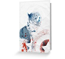 Paint Splatter Superheros: Captain America Greeting Card