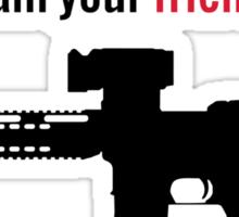 I am the Militia. Sticker