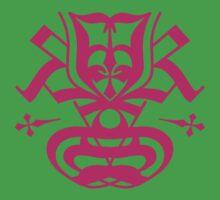 Typo Samurai - Magenta Baby Tee