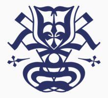 Typo Samurai - Navy One Piece - Short Sleeve