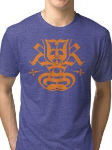 Typo Samurai - Orange Tri-blend T-Shirt