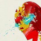 Paint Splatter Superheros: Iron Man by Arian Noveir