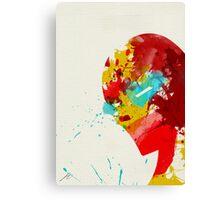 Paint Splatter Superheros: Iron Man Canvas Print