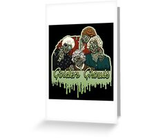 Golden Ghouls Greeting Card