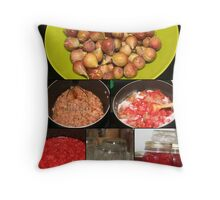Strawberry Fig Preserves Throw Pillow
