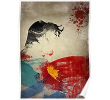 Paint Splatter Superheros: Superman Poster