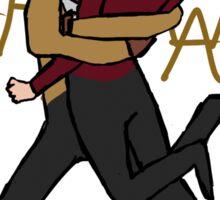 Riker & Worf- Warrior Hugs Sticker