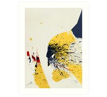 Paint Splatter Superheros: Wolverine Art Print