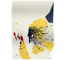 Paint Splatter Superheros: Wolverine Poster