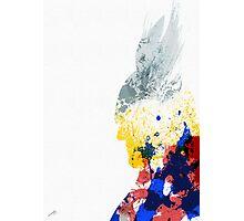 Paint Splatter Superheros: Thor Photographic Print