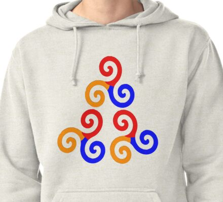 Alpha Omega Beta Colours Pullover Hoodie