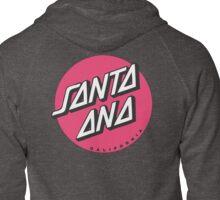 Santa Ana California Zipped Hoodie