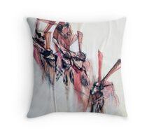 Rabbit Invasion Throw Pillow
